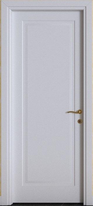 Porte interne.  mod. F1B ( telaio in legno di abete e coprifili in Hdf )