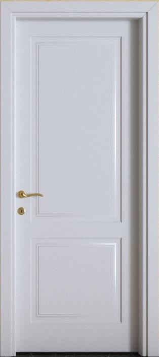 Porte interne.  mod. F2B ( telaio in legno di abete e coprifili in Hdf )