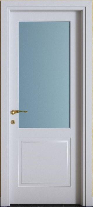 Porte interne.  mod. F2B V ( telaio in legno di abete e coprifili in Hdf )