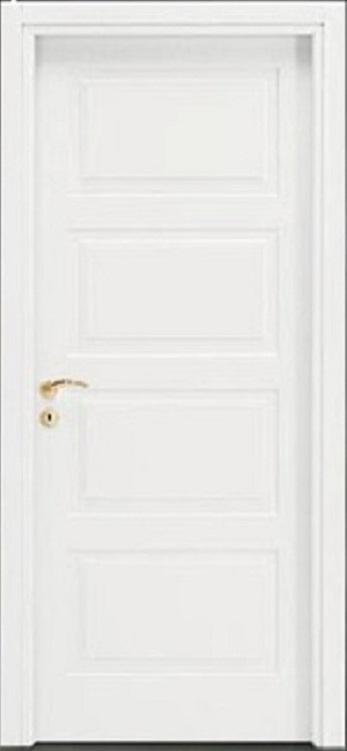 Porte interne.  mod. F4A ( telaio in legno di abete e coprifili in Hdf )
