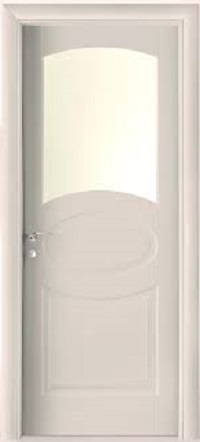 Porte interne Laccate  mod. F P2D-V ( telaio in legno di abete e coprifili in Hdf )