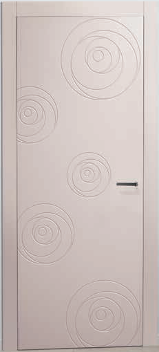 Porte interne laccate incise moderne , Mod. ROSE