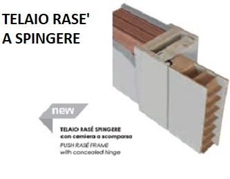 Porte interne laccate incise moderne , Mod. LINEE