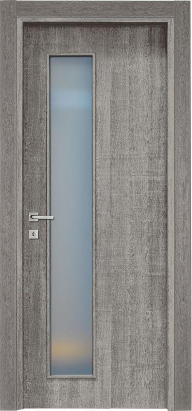 Vendita porte per interni porte tamburate online porta a vetro in laminatino mod ptvm isy 3 - Porte interne rovere grigio ...