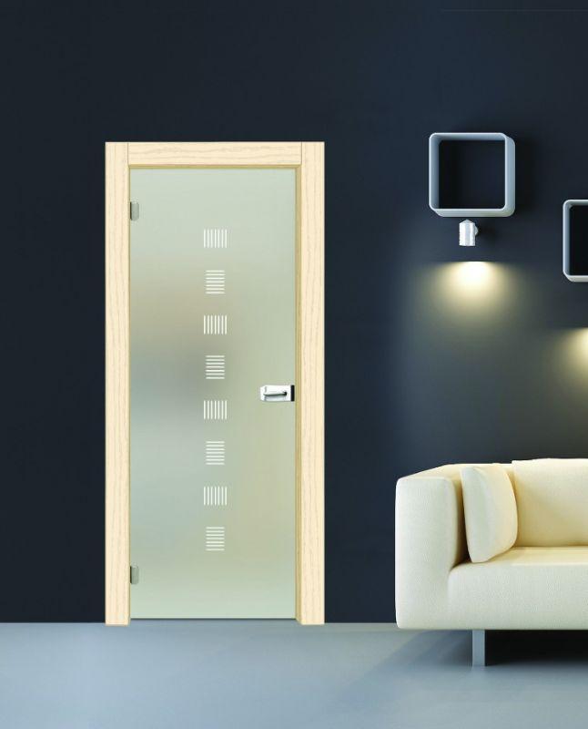 Vendita porte per interni, Porte a vetro, Vetro satinato bianco ...