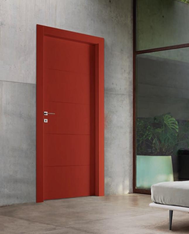 Porte per interni economiche mod 2b laccato serie complanare porte interne laccate e incise - Porte per interni economiche ...