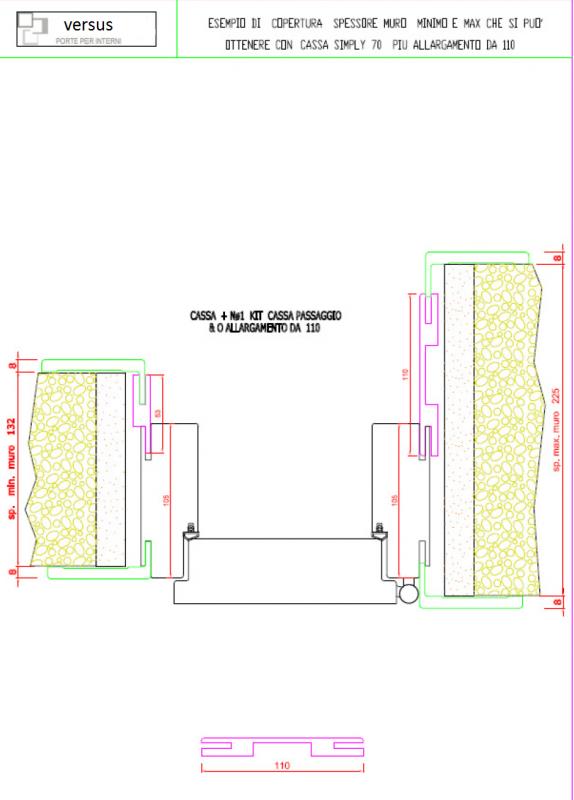 Porta A Libro Asimmetrica Mod Base Serie 7