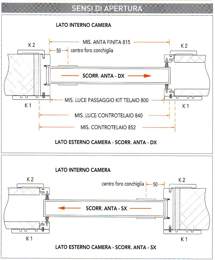Porte interne tamburate MOD. SOLE C bianco/ciliegio/tanganika/noce ...