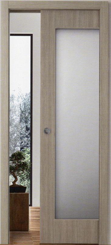 Porta scorrevole interno muro a vetro serie 7